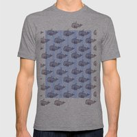 Pod Of Whale Mens Fitted Tee Athletic Grey SMALL