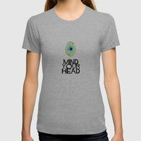 Mind your HEAD Womens Fitted Tee Athletic Grey SMALL