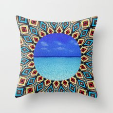 mandala sea Throw Pillow