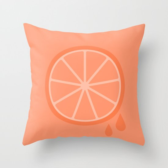 #51 Orange Throw Pillow
