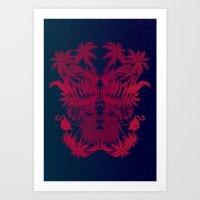 Tropical Rorschach Art Print
