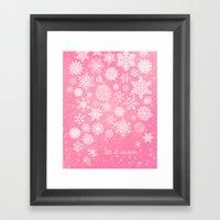 Let It Snow - Let It Sno… Framed Art Print