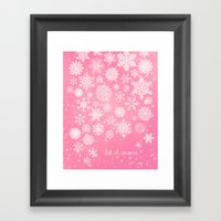 Let It Snow - Let It Sno… Framed Art Print