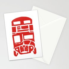 Red bus in London Stationery Cards