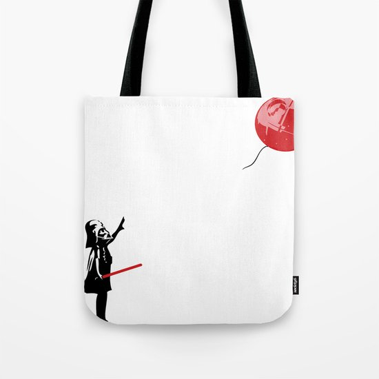 That's No Banksy Balloon (It's a Space Station) Tote Bag