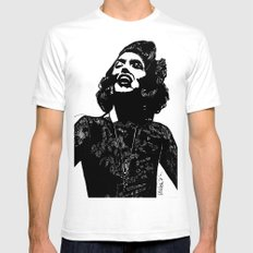 B&W Fashion Illustration - Part 1 Mens Fitted Tee White SMALL