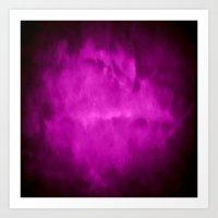 Purple Night Clouds Art Print