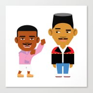 Canvas Print featuring The Fresh Prince (Versio… by Evan Gaskin