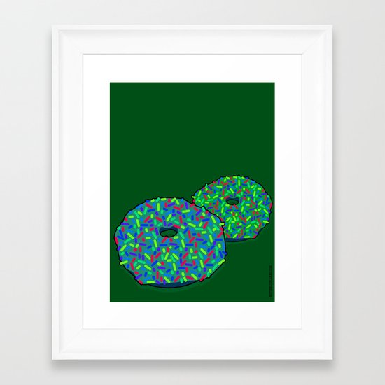 Donuts: Rainbow consolation (pink) Framed Art Print