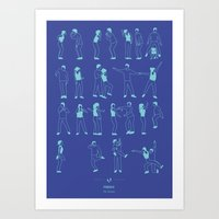 Friends: The Routine Art Print