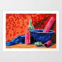 Still Life Collage Art Print