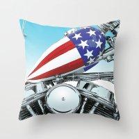 American Chopper Throw Pillow
