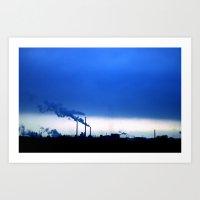 Industrial Skies Art Print