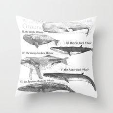 I. The Folio Whale Throw Pillow