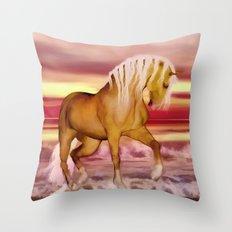 HORSE - Palomino Throw Pillow