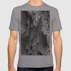 AGATE DRIFT Mens Fitted Tee Athletic Grey SMALL