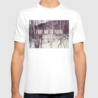 Take Me To You Universe Mens Fitted Tee White SMALL