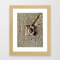 Vintage Doorbell Framed Art Print