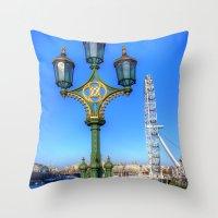 London Eye, London Throw Pillow
