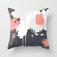 Abstract Paint Pattern 0… Throw Pillow