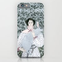 Girl And Rabbit Among Fl… iPhone 6 Slim Case
