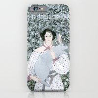 Girl And Rabbit Among Fl… iPhone 6 Slim Case