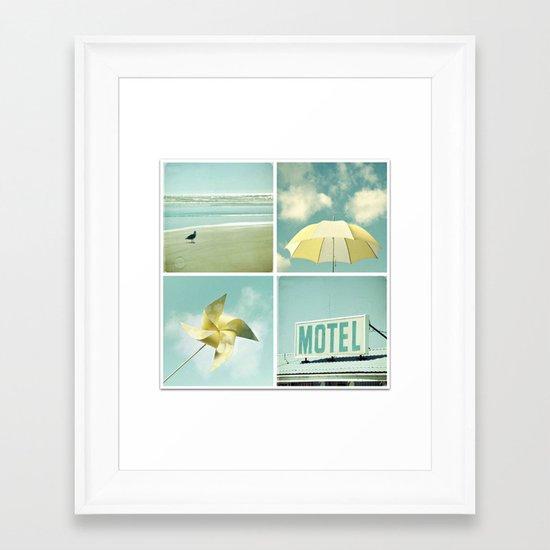 Coastal Collage Framed Art Print