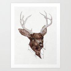 Smoking Buck Art Print