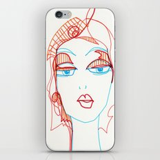 girl sketch iPhone & iPod Skin
