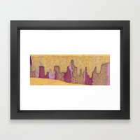 Multicolor Canyon Framed Art Print