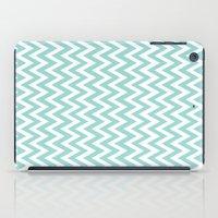 Teal Blue Chevron iPad Case