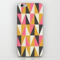Orange & Grey iPhone & iPod Skin