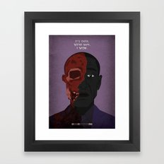 Breaking Bad - Face Off Framed Art Print