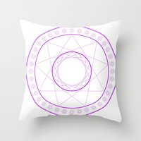 Anime Magic Circle 7 Throw Pillow