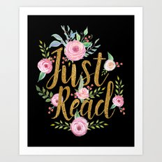 Just Read - Black Art Print