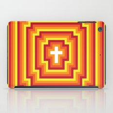 Technicolour Cross - Orange iPad Case