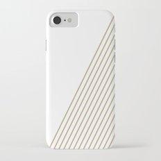 Tan & White Stripes  iPhone 7 Slim Case