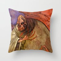 Grandmother Death Throw Pillow