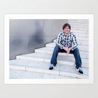 Brock Wilbur September Stairs Art Print