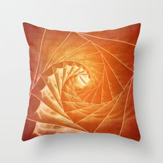 The Burning Eye Sees Spiral Throw Pillow