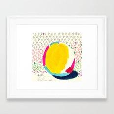 Diamond and Yellow Apple Framed Art Print