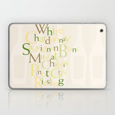 white wine words Laptop & iPad Skin