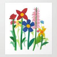 Birthday Flowers Art Print