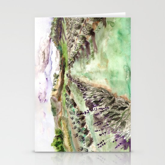 Purple up over the hills Stationery Card