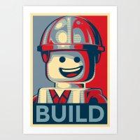 BUILD Art Print