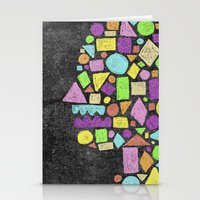 Mosaic Silhouette Stationery Cards