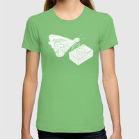 Butterfly Womens Fitted Tee Grass SMALL