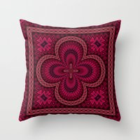 Orange Purple And Pink A… Throw Pillow
