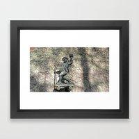 The friendly rambler Framed Art Print