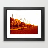 brighton beach (07) Framed Art Print